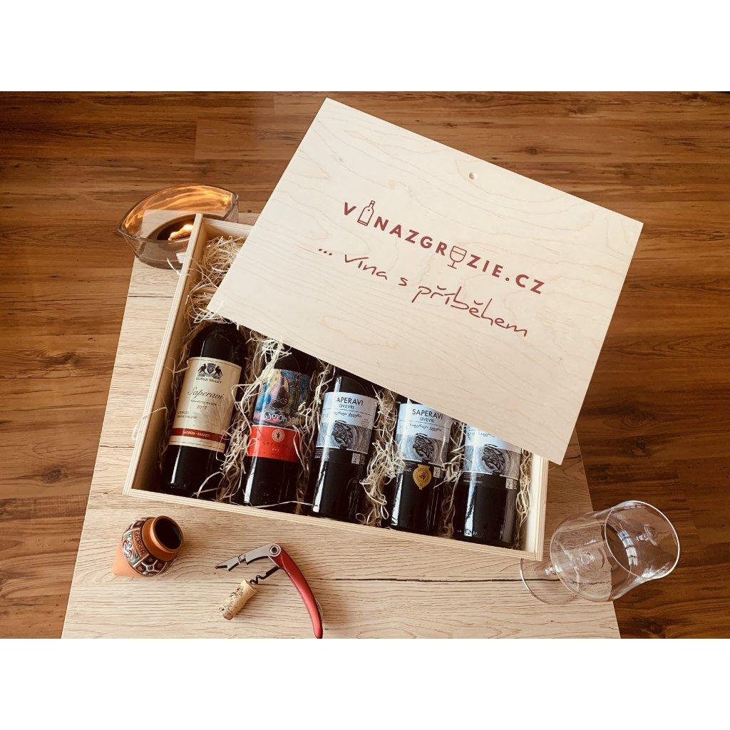 Degustační dárková sada vín z odrůdy Saperavi