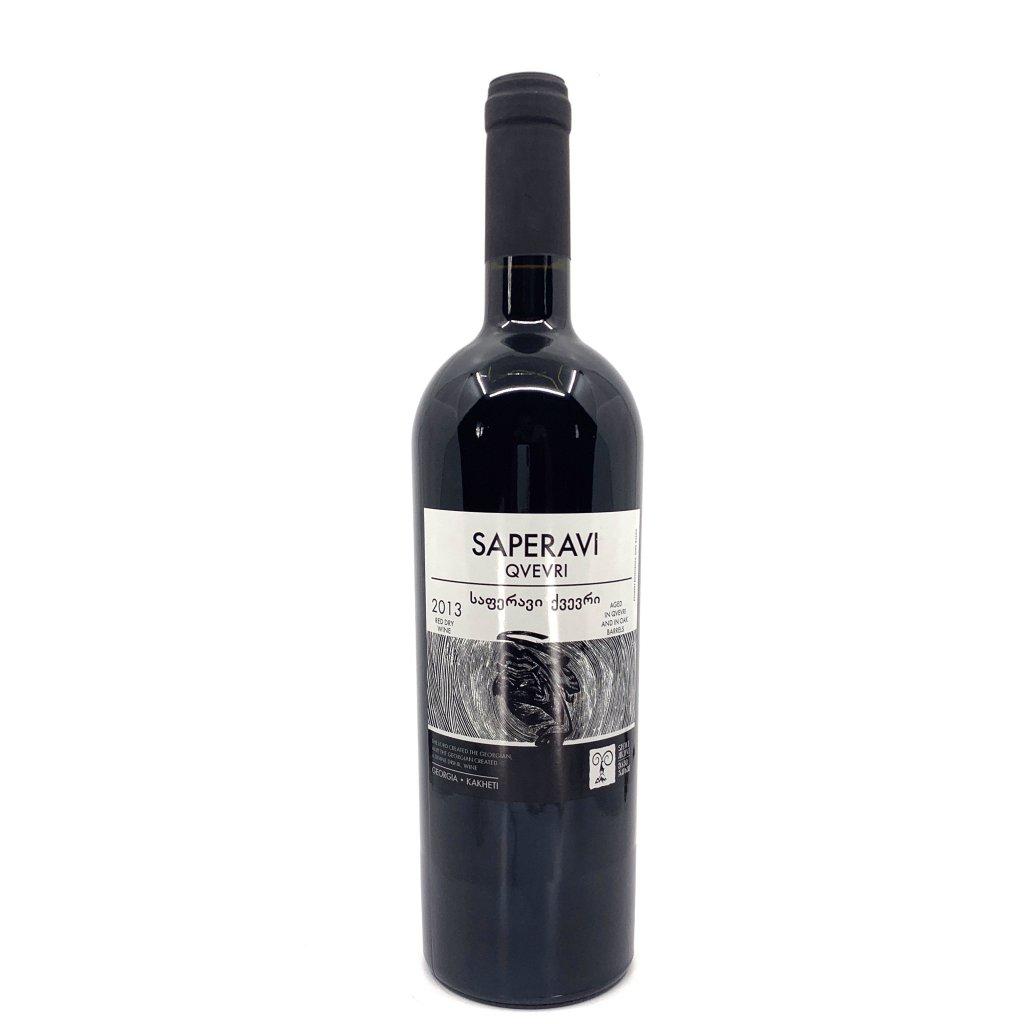Shavi Jikhvi Саперави Квеври сухое красное грузинское вино 2017 0,75л