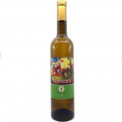 Tsinapari Ркацители сухое белое грузинское вино 2018 0,75л