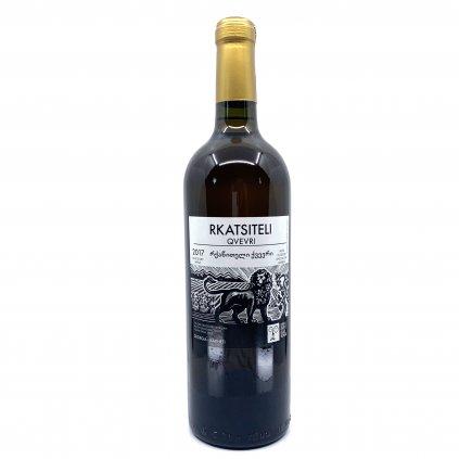 Shavi Jikhvi Ркацители Квеври белое сухое грузинское вино 2017 0,75л