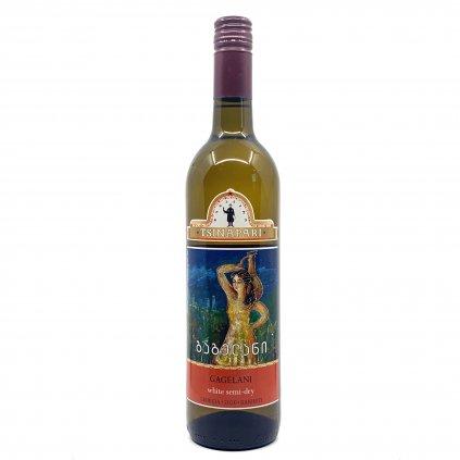 Tsinapari Gagelani polosuché gruzínské bílé víno 2019 0,75l