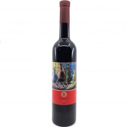 Tsinapari Саперави красное сухое грузинское вино 2018 0,75л