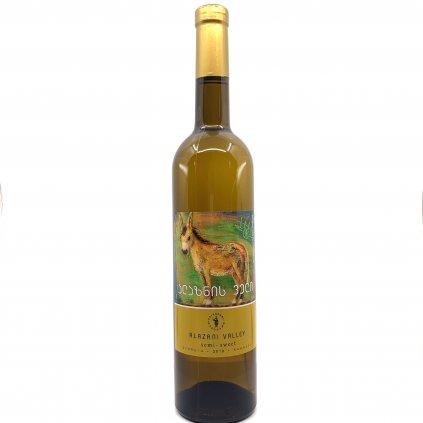 Tsinapari Алазанская долина белое полусладкое грузинское вино 2018 0,75л