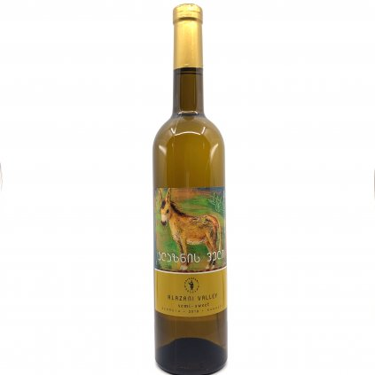 Tsinapari Алазанская долина белое полусладкое грузинское вино 2019 0,75л