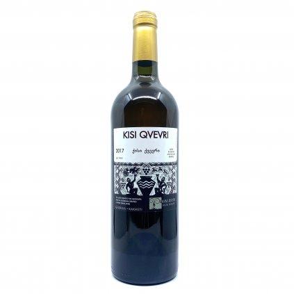 Shavi Jikhvi Kisi Kvevri suché bílé gruzínské víno 2015 0,75l