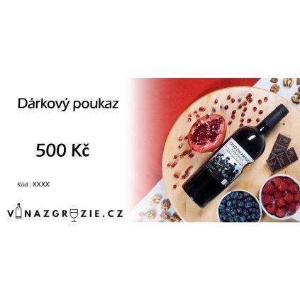 Dárkový poukaz červený 500Kč