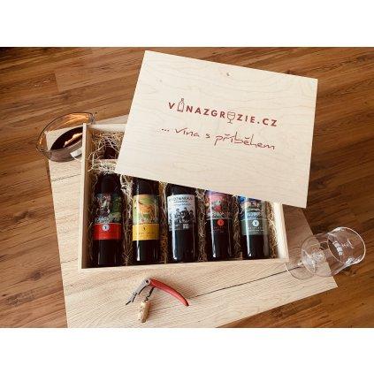 Degustační dárková sada polosladkých vín