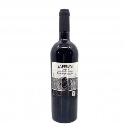Shavi Jikhvi Саперави Квеври сухое красное грузинское вино 2015 0,75л