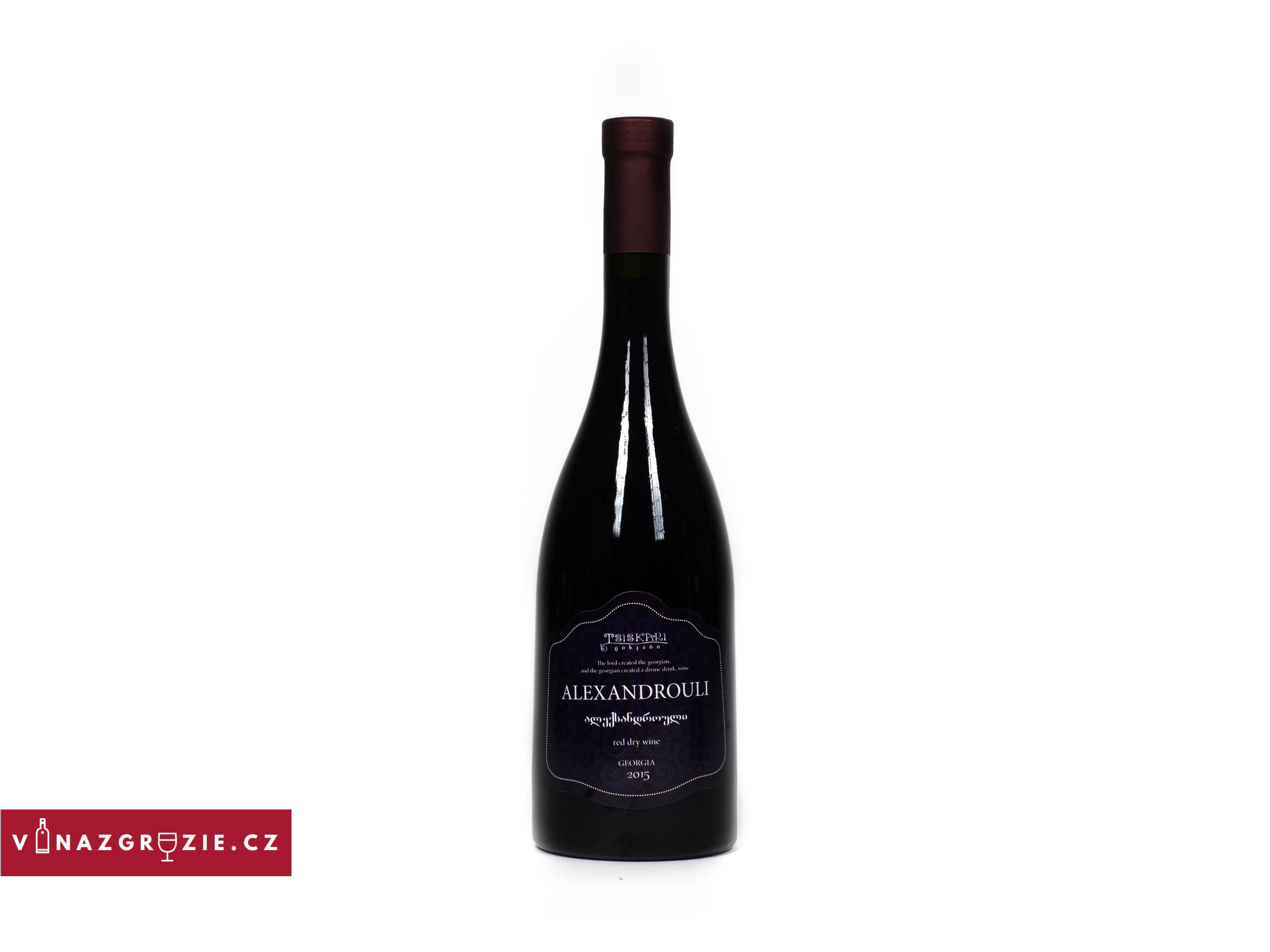 Tsiskari Alexandrouli suché gruzínské červené víno 2018 0,75l