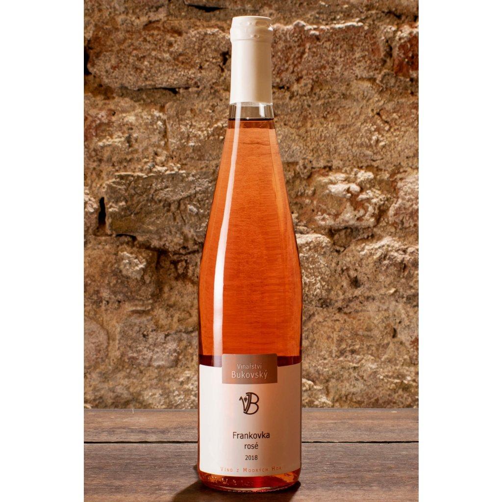 Frankovka rosé 2018, suché růžové víno