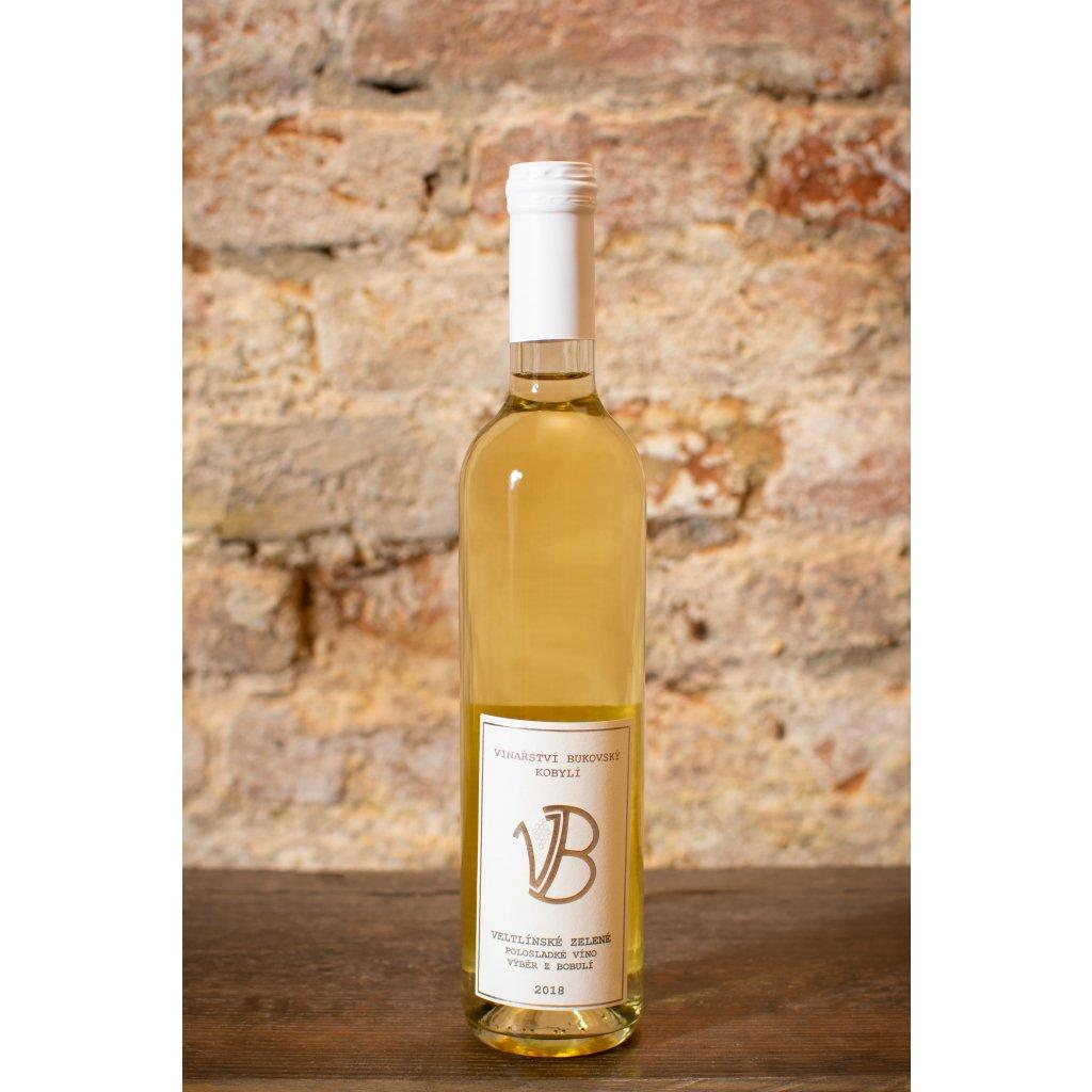 Veltlínské zelené 2018, polosladké bílé víno