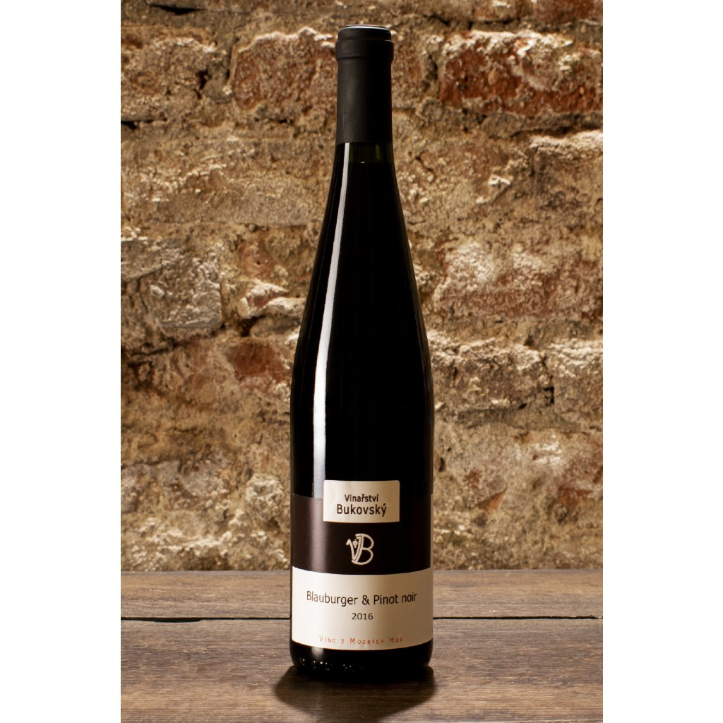 Blauburger & Pinot Noir 2016, suché červené víné