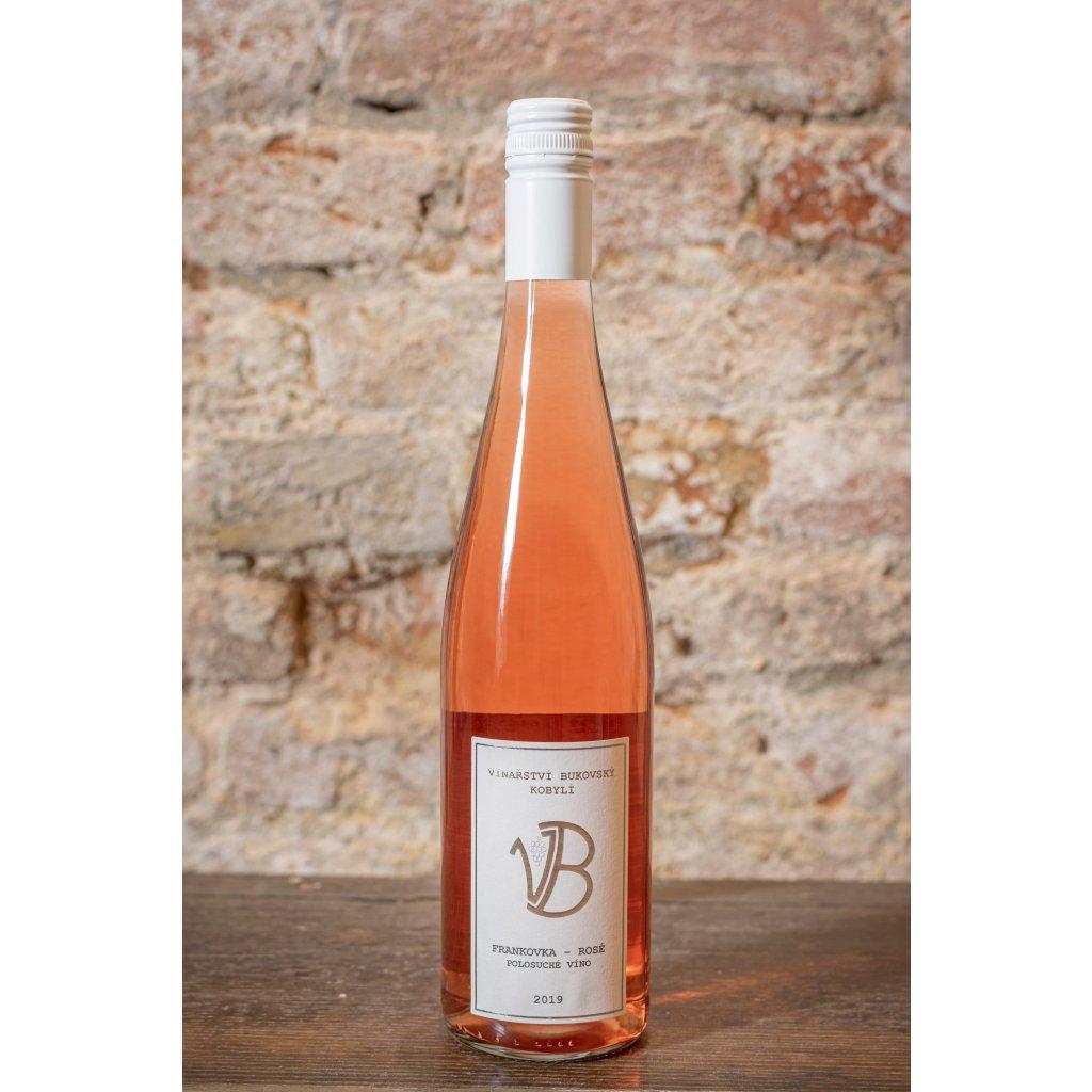 Frankovka rosé  2019, polosuché růžové víno