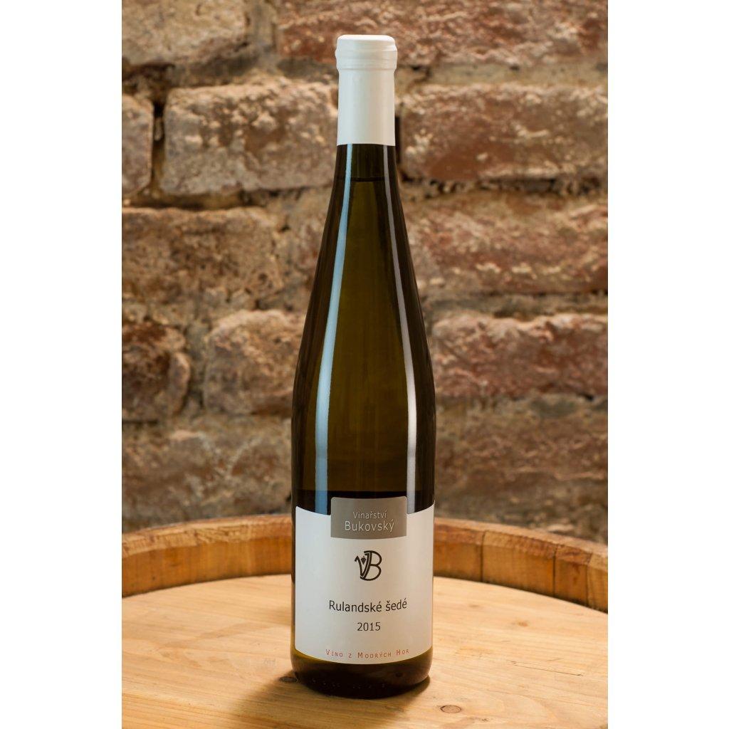 Rulandské šedé 2015, suché bílé víno