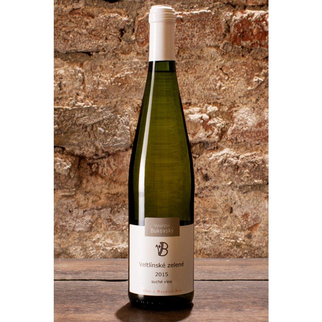Veltlínské zelené 2015, suché bílé víno