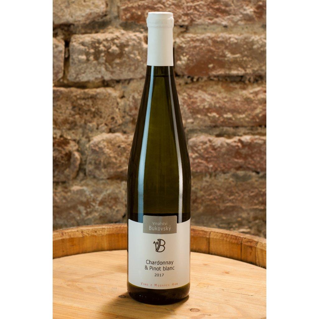 Chardonnay & Pinot blanc 2017, polosladké bílé víno