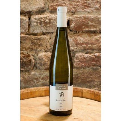 Ryzlink vlašský 2014, suché bílé víno
