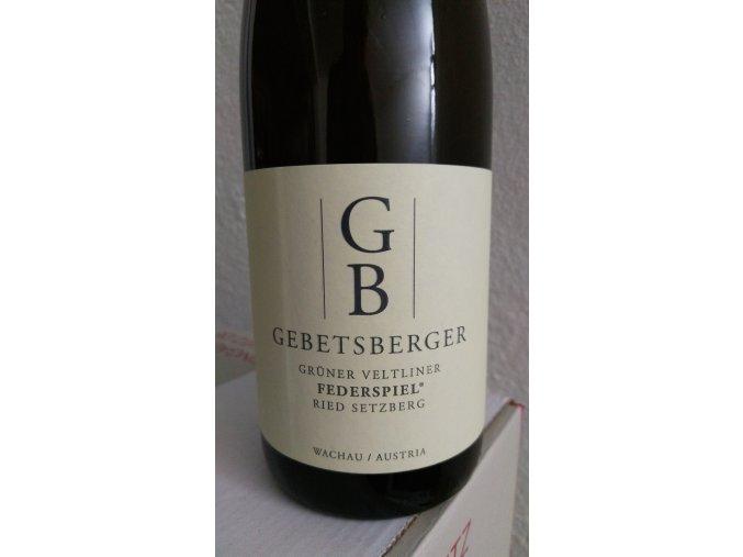 Grüner Veltliner Federspiel Ried Setzberg Gebetsberger