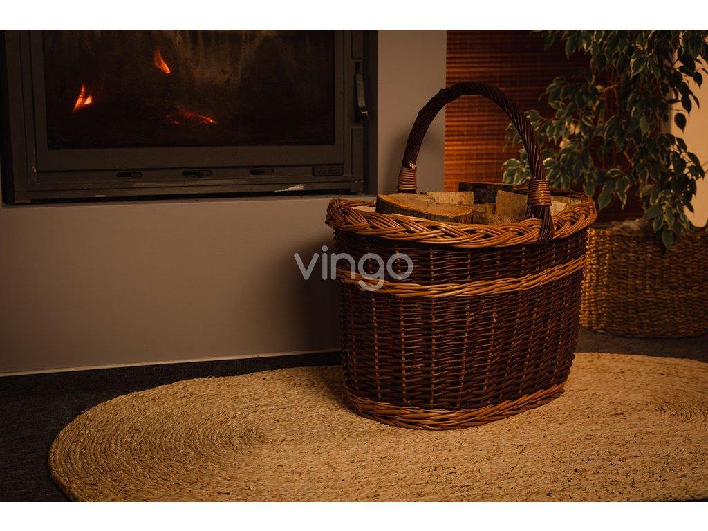 dfb2e36ff Proutěný koš na dřevo - Vingo