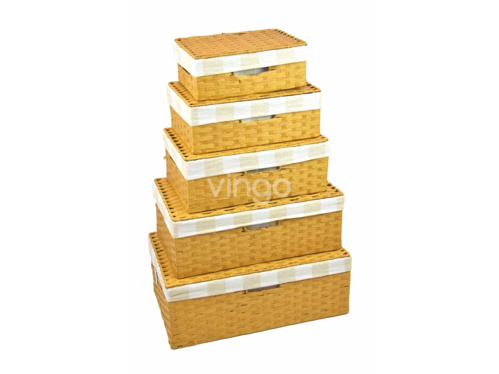 Úložný box s víkem pískový