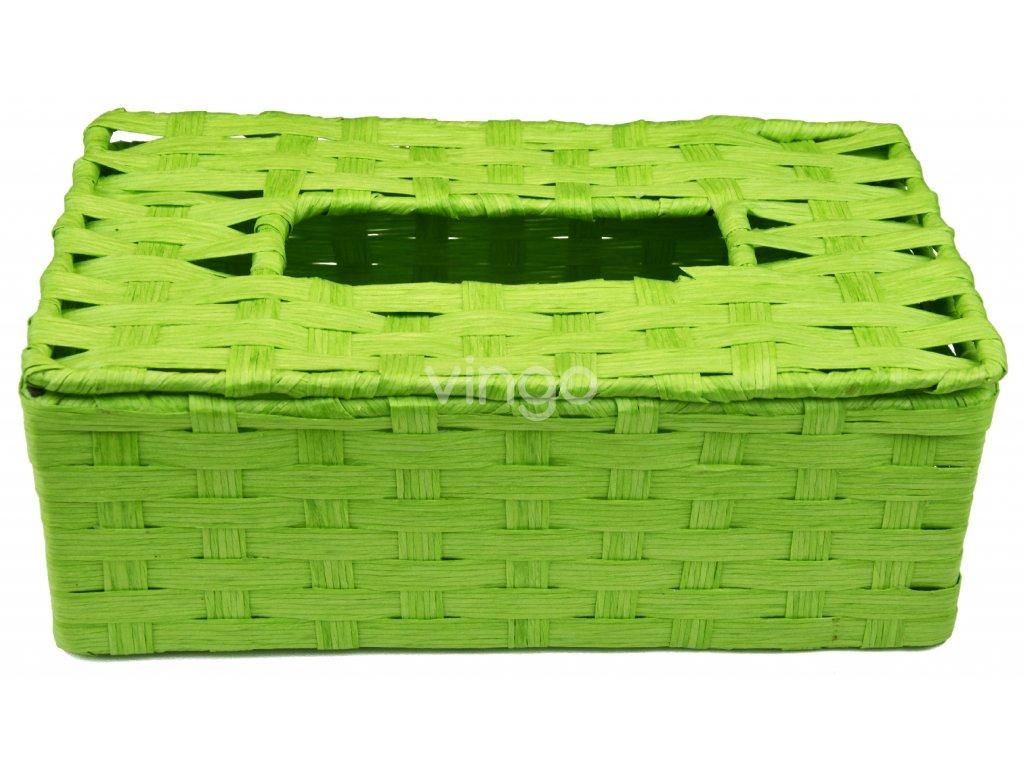 Box na kapesníky zelený