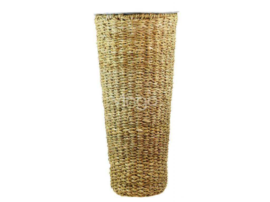 Kulatá váza Vingo přírodní pleteno z mořské trávy