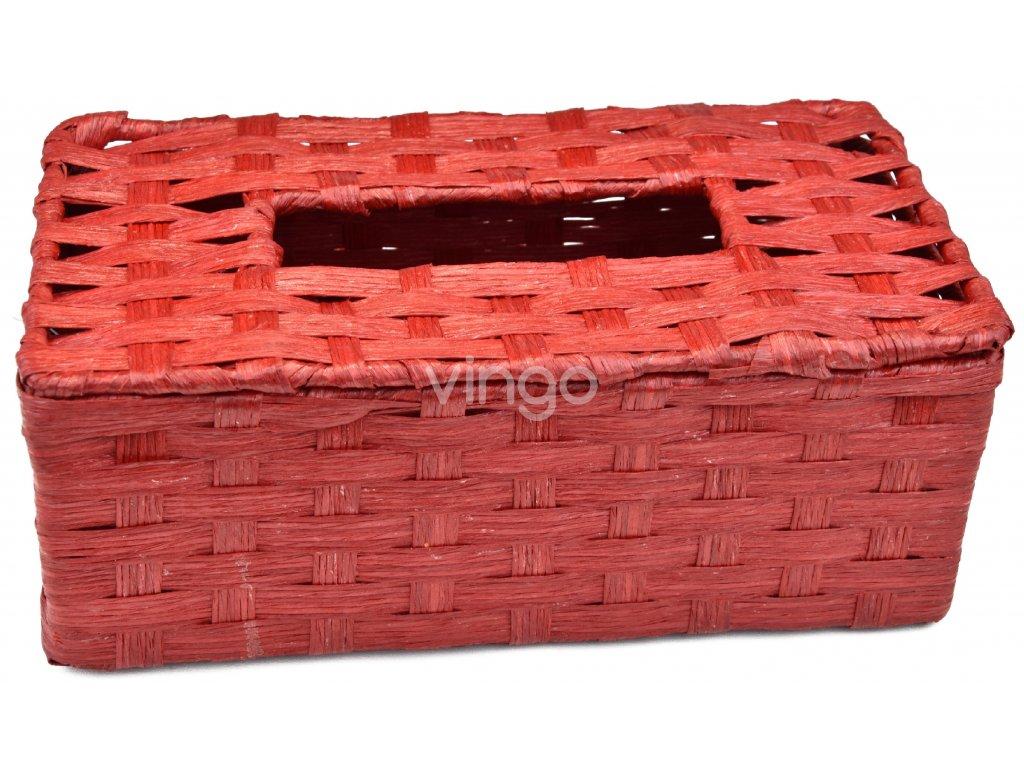 Box na kapesníky červený