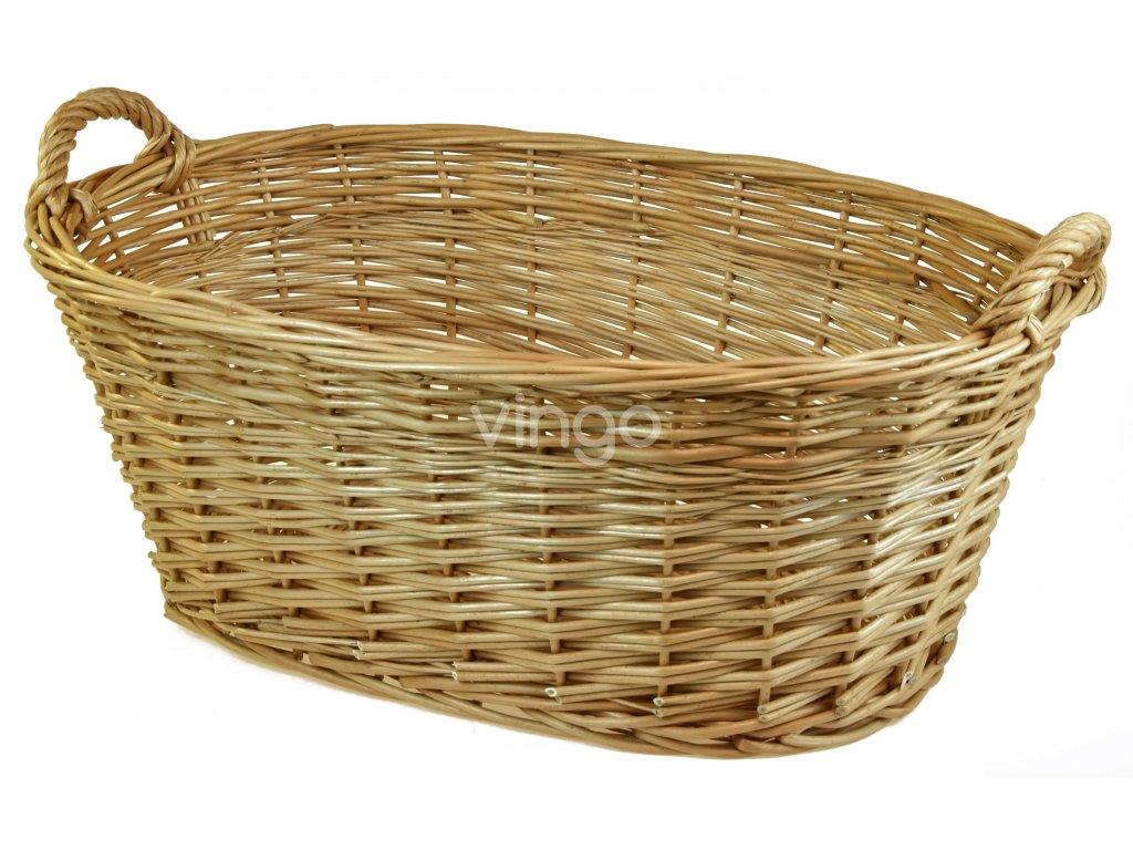 Proutěný koš na čisté prádlo (rozměry (cm) 90x56, v. opletu 28)