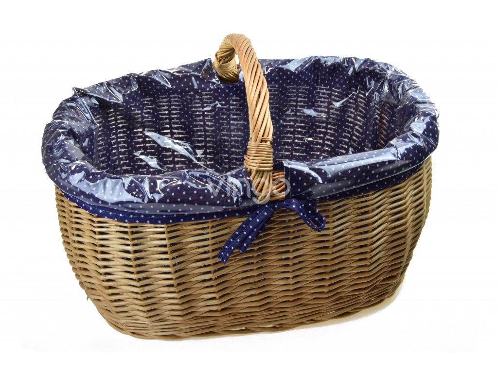 13423 prouteny nakupni kos s igelitovou vlozkou a modrou latkou