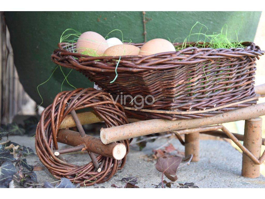 Proutěné kolečko Vingo s velikonočními vejci