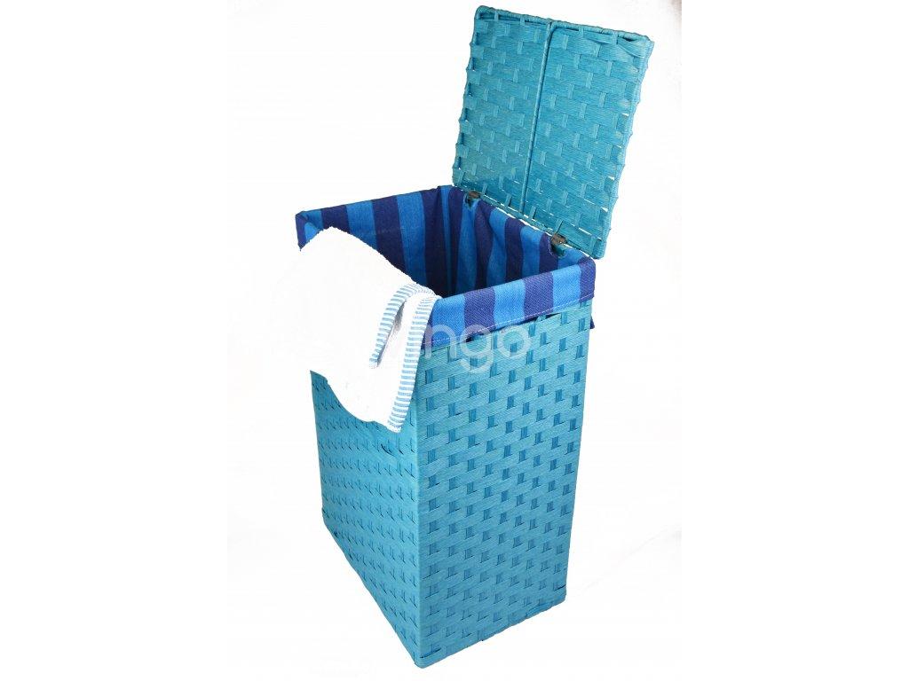 Koš na prádlo modrý (rozměry (cm) 36x26, v. 58)
