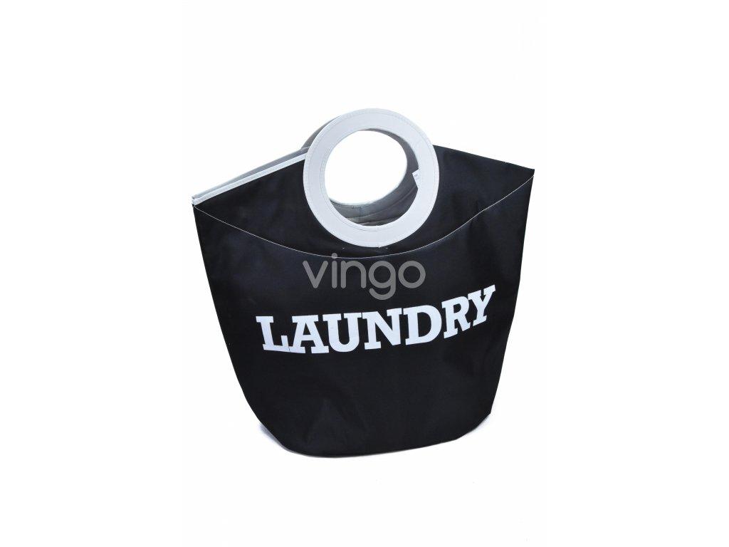 Textilní koš na prádlo LAUNDRY černý