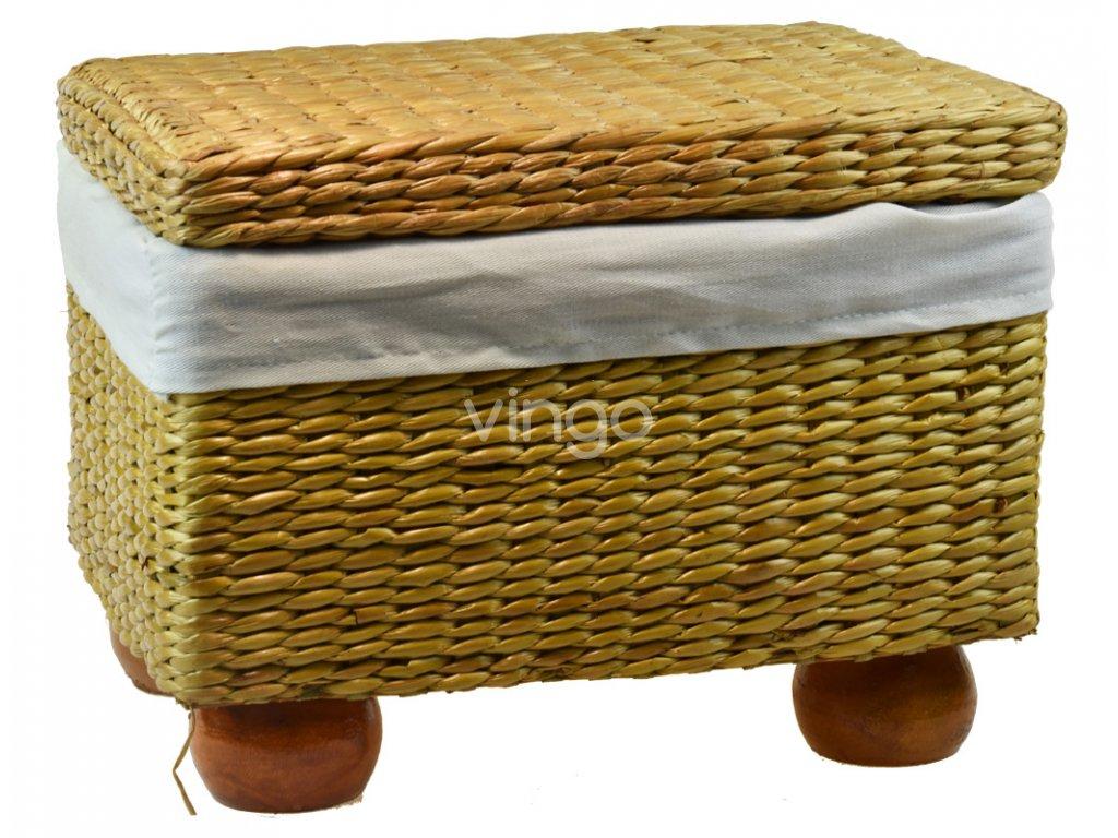 Taburet Vingo s úložným prostorem