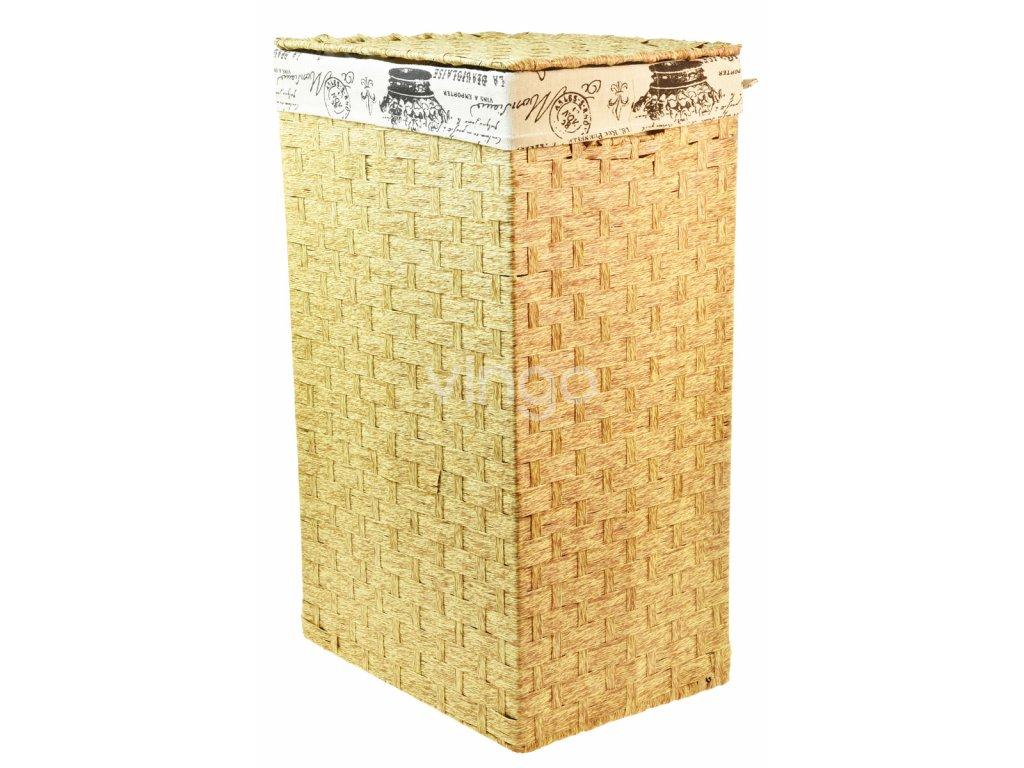 Prádelní koš s látkou PARIS (rozměry (cm) 36x26, v. 58)