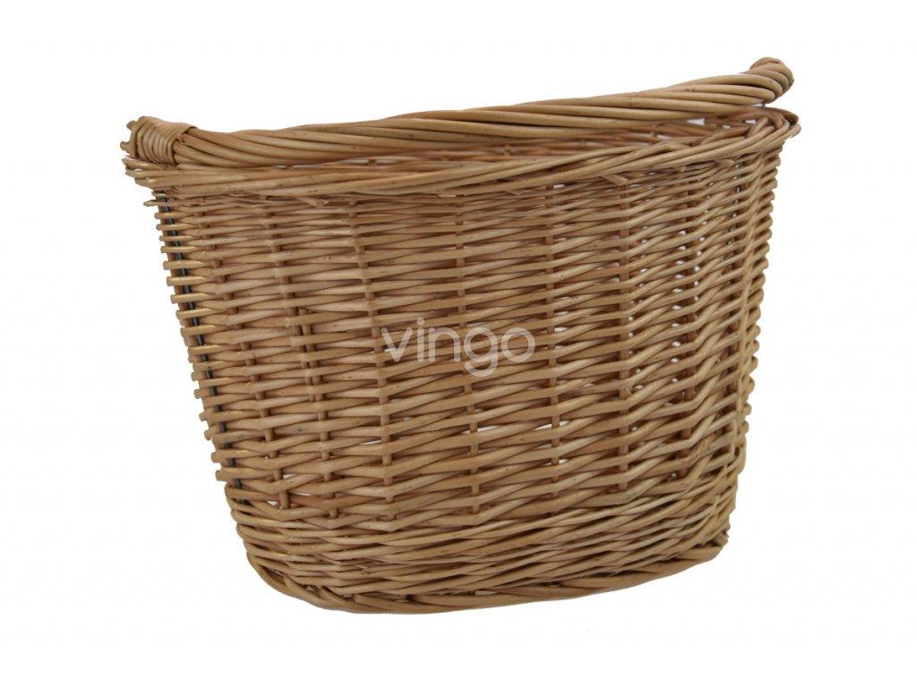 Malý proutěný oválný košík na kolo
