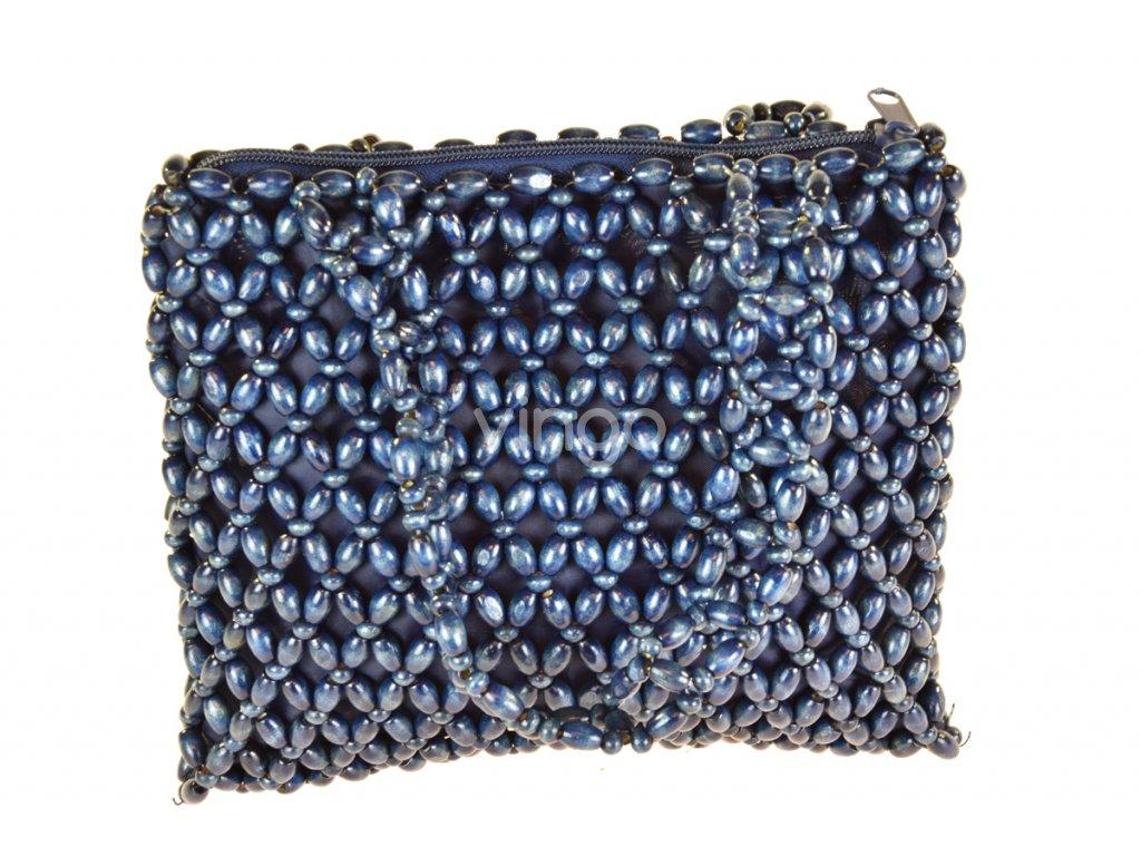 Modrá korálková kabelka