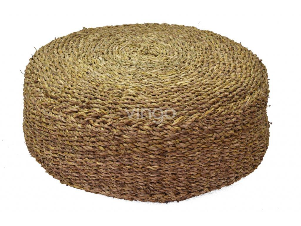 Kulatý sedací polštář Vingo z mořské trávy