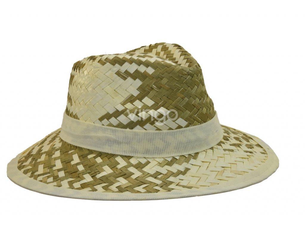 Pánský slaměný letní klobouk s bílým lemem - Vingo 97c5de7934