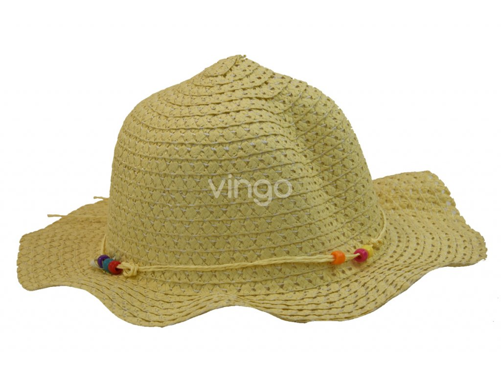 Dětský slaměný klobouk slámové barvy - Vingo b458abbb80
