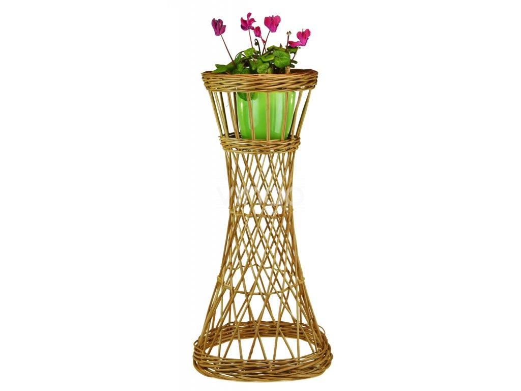 Stojan na květiny (rozměry (cm) vrchní průměr 23, v. 57, průměr dna na květináč 13)