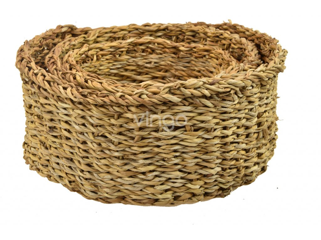 2962daedc91 Sada 3 košíků z mořské trávy - Vingo