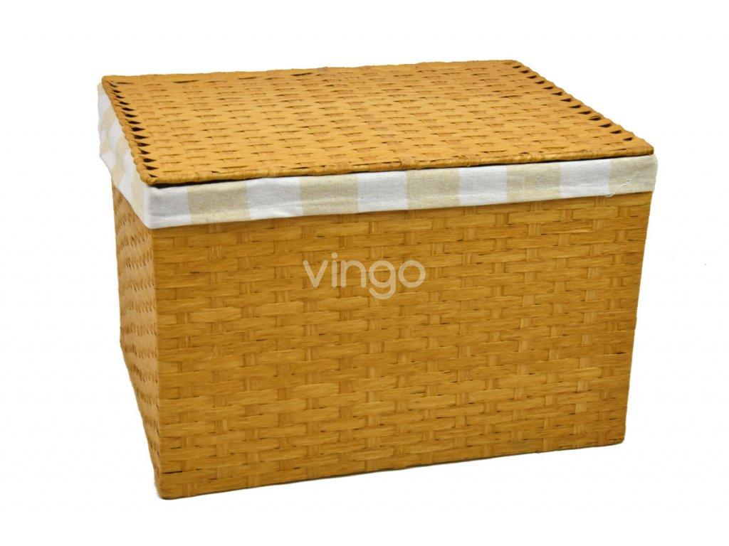 Úložný box s víkem pískový (rozměry (cm) 32x21, v. 24)