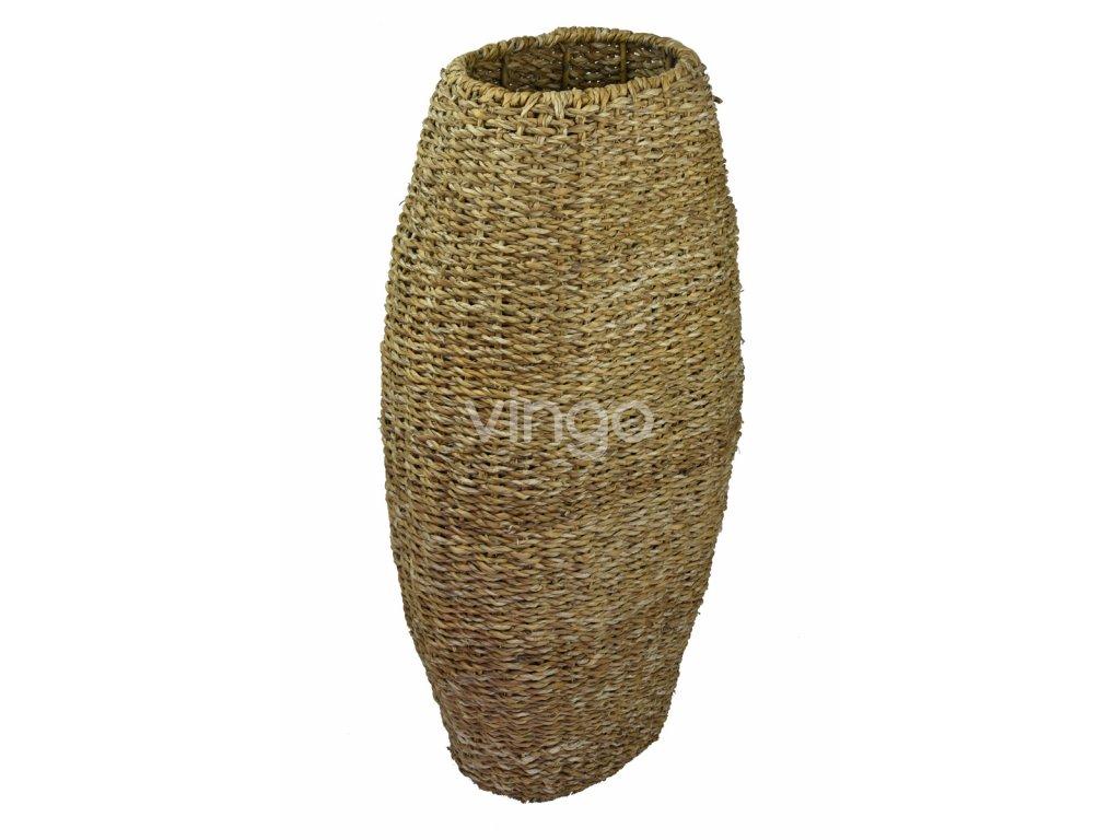 d1ea31687a4 Vysoká oválná váza Vingo upletená z mořské trávy