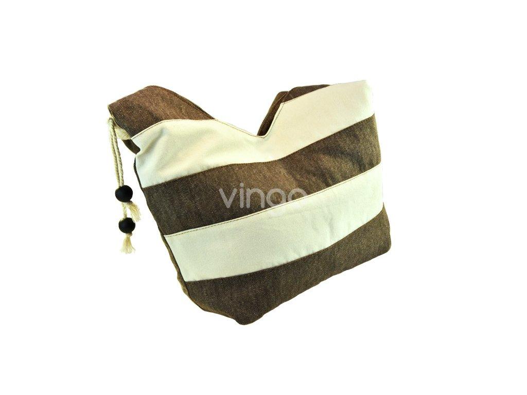 18194 1 lehka hneda kabelka pres rameno