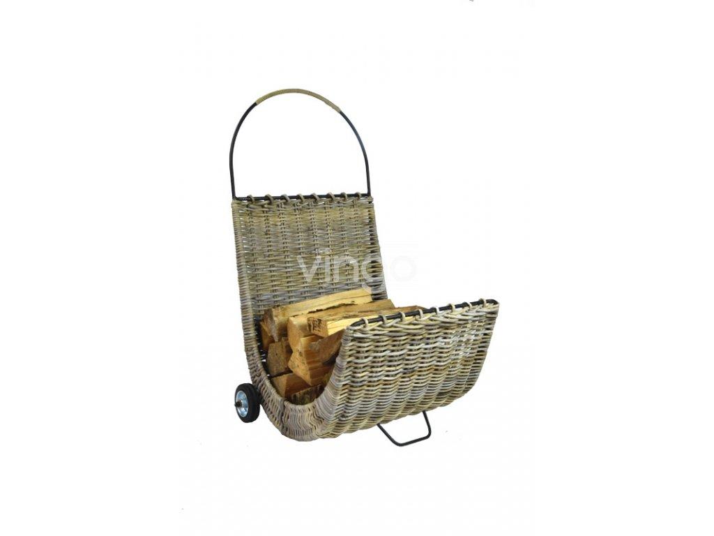 18452 3 ratanovy vozik na drevo