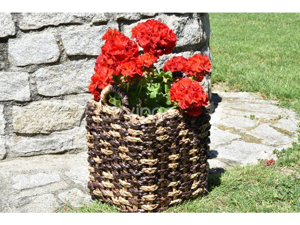 5372 sada 3 kvetinacu s uchyty z materialu vodni hyacint