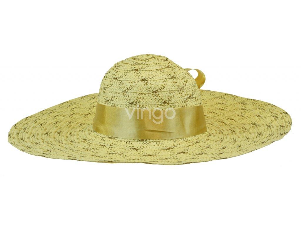 6389 2 klobouk barvy piskove se stuhou