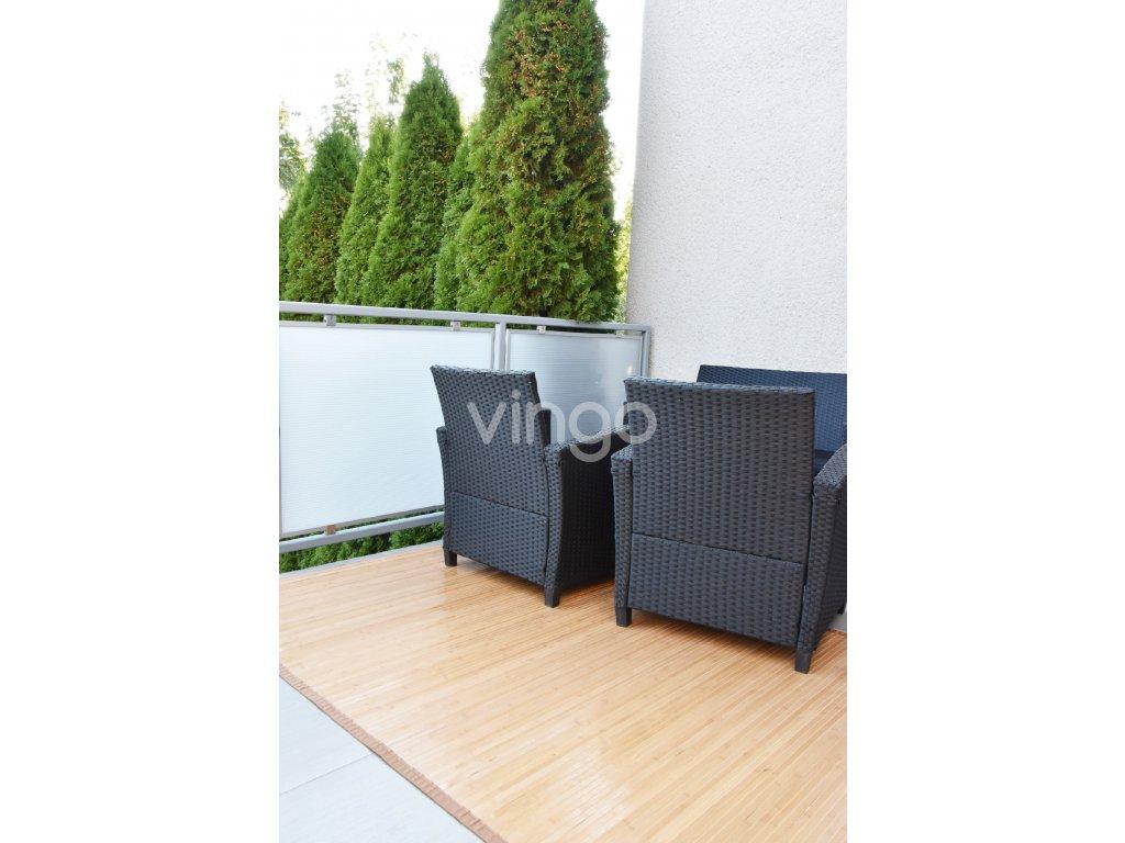 Bambusový koberec světle hnědý (rozměry 80x200)