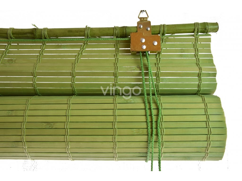 Zastiňovací bambusová roleta zelená (Velikost 60x150)