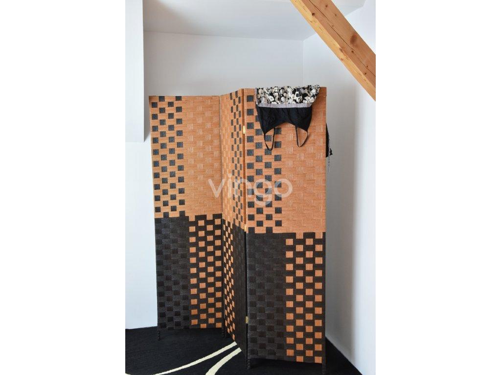 Paraván Vingo hnědý s tmavým vzorem (Velikost 150x2x180)